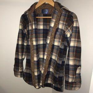Vintage Pendleton Wool Button Up Flannel - Size M